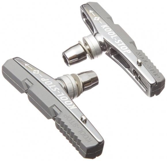 Kool Stop remblokken V brake 72,5 x 8,5 mm zilvergrijs 2 stuks