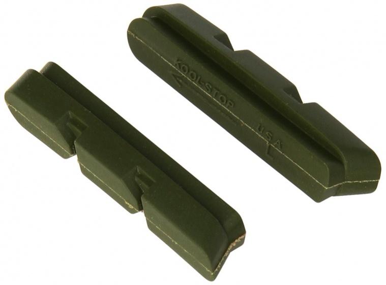 Kool Stop remblokrubbers Campi 2000 V brake 55 x 11 mm groen 2 stuks