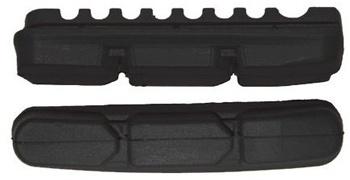 Kool Stop remblokrubbers Dura 2 KS DR2B V brake 55 x 10 mm zwart 2 stuks