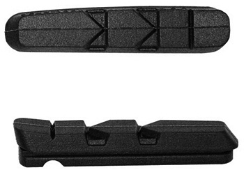 Kool Stop remblokrubbers Dura V brake 52 x 10 mm zwart 2 stuks