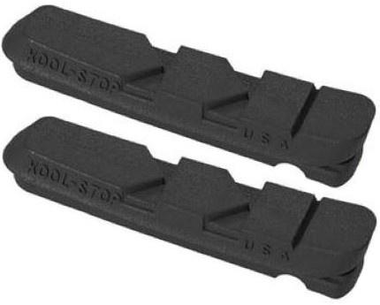 Kool Stop remblokrubbers Dura V brake 55 x 10 mm zwart 2 stuks