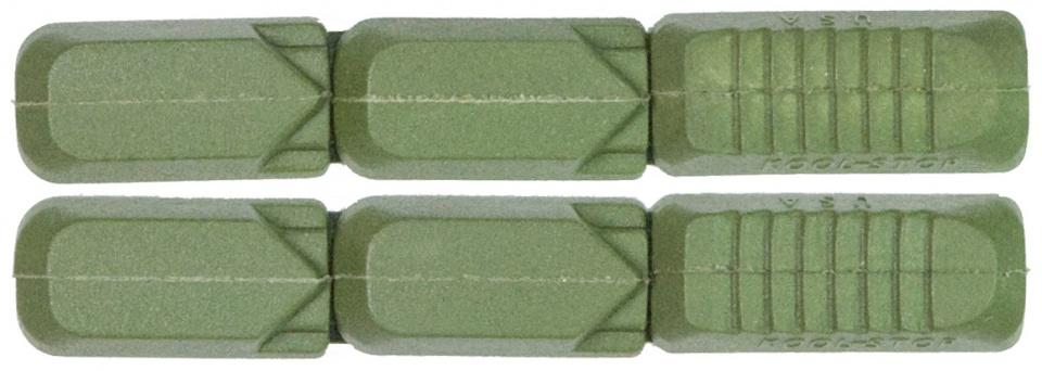 Kool Stop remblokrubbers Tectonic V brake 72 x 12 mm groen 2 stuks