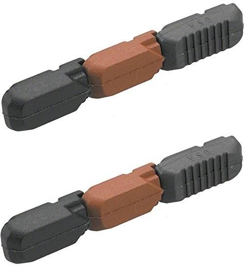 Kool Stop remblokrubbers Tectonic V brake 72 x 12 mm zw/br 2 stuks