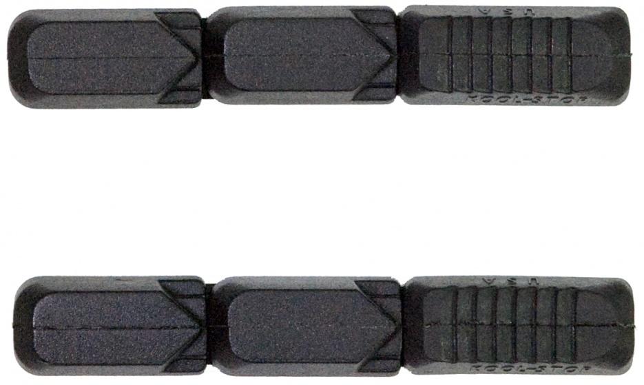 Kool Stop remblokrubbers Tectonic V brake 72 x 12 mm zwart 2 stuks