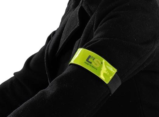 L2S reflecterende armband Brassard geel 26 cm