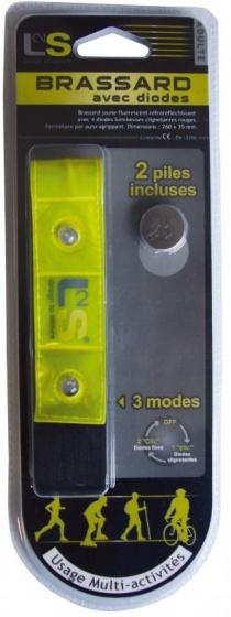 L2S reflecterende armband Brassard led geel 26 cm