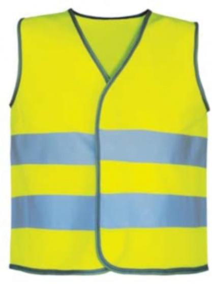 L2S veiligheidshesje NeonKid polyester geel maat one size