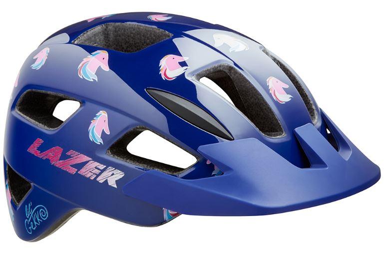 Lazer fietshelm Lil Gekko Pony Mips junior 46 50 cm blauw/roze
