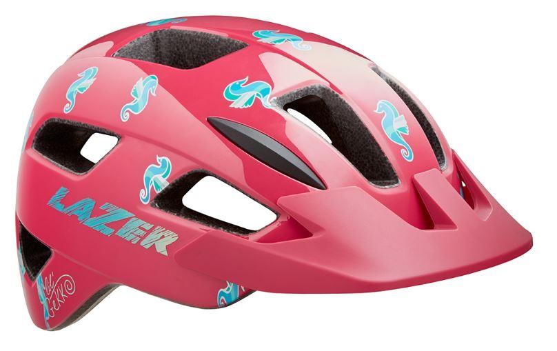 Lazer fietshelm Lil Gekko Sea Pony junior 46 50 cm blauw/roze