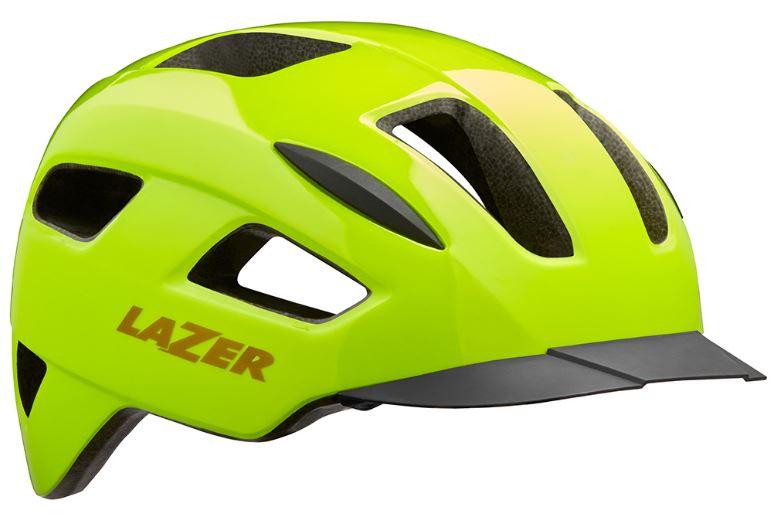 Lazer fietshelm Lizard 55 59 cm polycarbonaat geel maat M