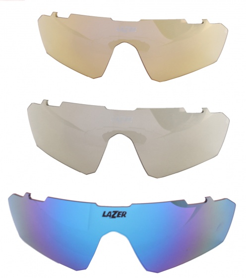 Korting Lazer Lenzenset Fietsbril M3 Eddy Blauw 3 delig