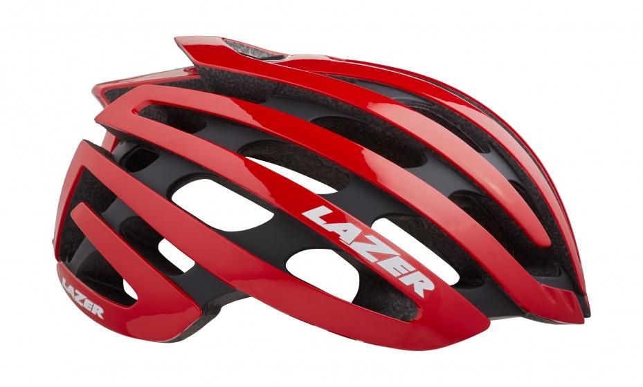 Lazer racefiets helm Z1 EPS schuim rood 4 delig mt L