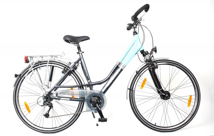 Leader Estate 28 Inch 46 cm Dames 24V V Brake Grijs