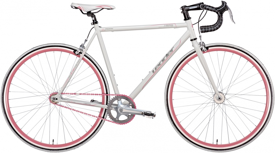 Leader - Single Speed Hero 28 Inch 52 Cm Heren Knijprem Wit