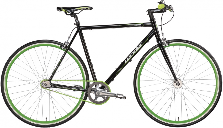 Leader - Single Speed Hero 28 Inch 52 Cm Heren V-brake Zwart