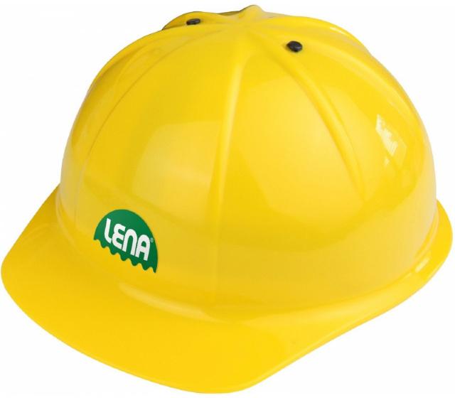 Lena bouwplaatshelm junior geel one size