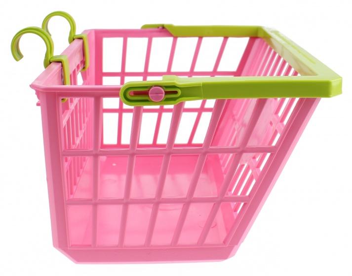 Lena fietsmandje 27 x 20 x 14 cm roze/groen
