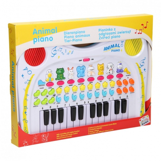 Lets Play animal keyboard with 24 keys white 38 cm