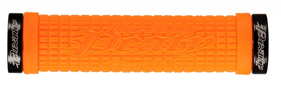 Lizard Skins handvatten Peaty Lock On 130 mm oranje 2 stuks