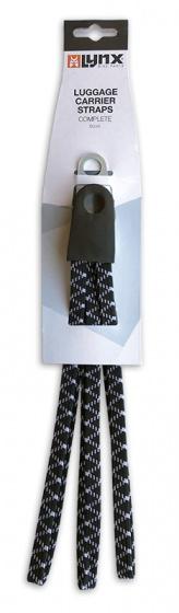 Lynx snelbinders Basic 26 28 inch elastaan zwart/wit