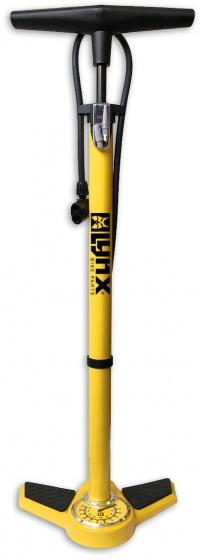 Lynx vloerpomp met drukmeter geel 63 cm