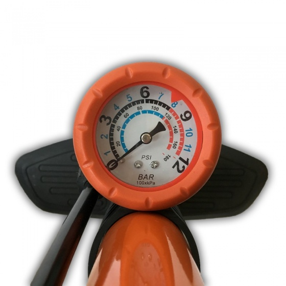 Lynx Vloerpomp met manometer oranje
