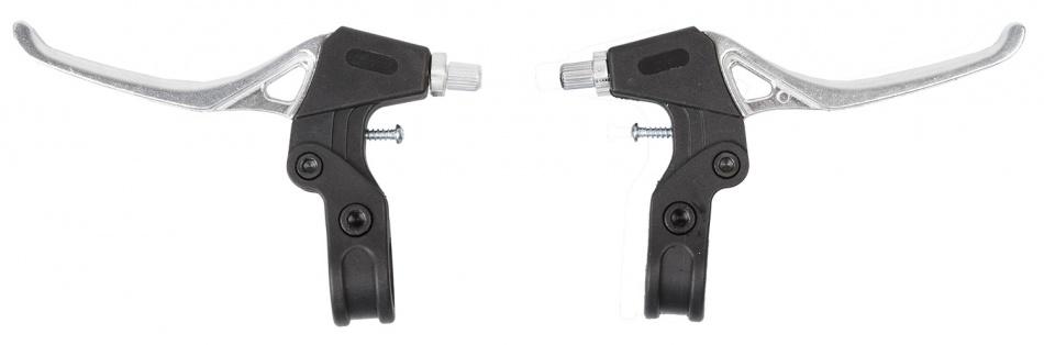 M Wave remgrepen set V brake/cantilever 2 vinger zilver/zwart