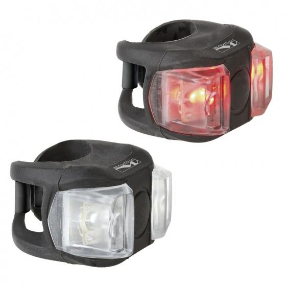 M Wave Battery Light Cobra II Fietslamp Voor + Achter