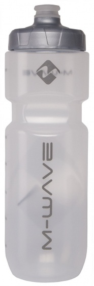 M Wave bidon transparant/zwart 750 ml