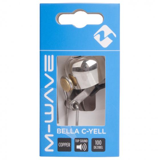 M Wave fietsbel Bella C Yell 30 mm zilver/koper
