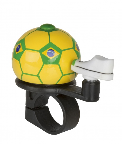 M Wave Fietsbel Mini Voetbal Brazilie