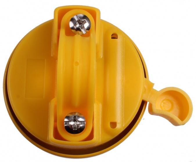 M Wave fietsbel Smiley 53 mm staal geel