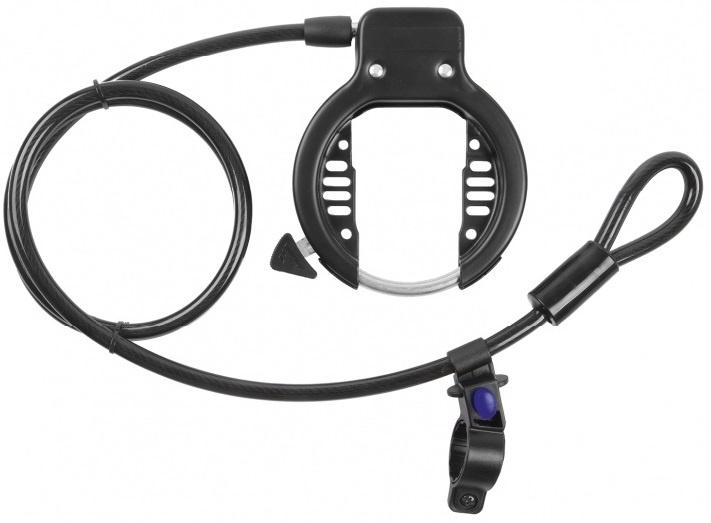 M Wave Frameslot met kabel Ringloop 10 x 1500 mm zwart