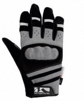 M Wave Gel Fietshandschoenen Protect Zwart/Grijs Maat 8
