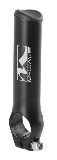 M Wave Aluminium Bar END Rond Zwart 2 Stuks