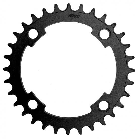 M Wave kettingblad e bike 1/2 x 3/32 11/128 36T 104 mm alu zwart