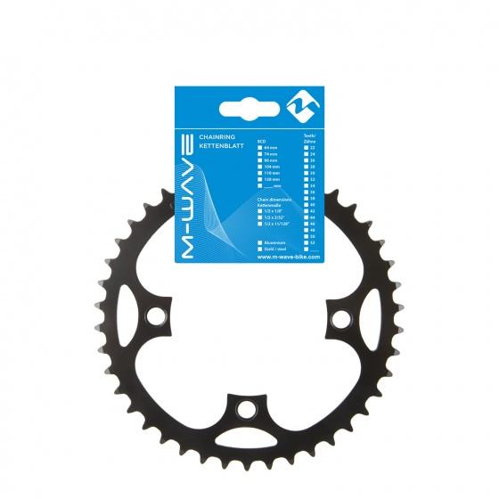 M Wave kettingblad e bike 1/2 x 3/32 42T 104 mm zwart