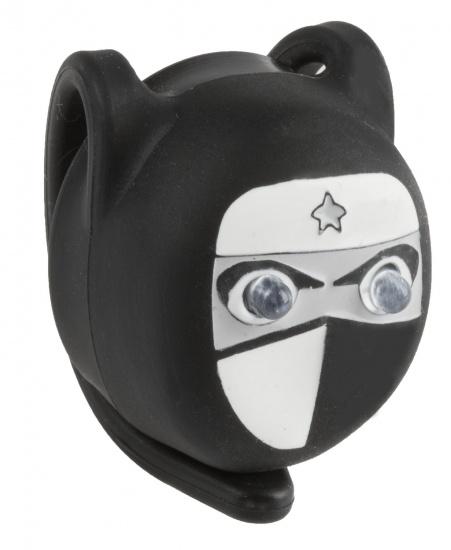 M Wave Mini Voorlicht LED Ninja Zwart