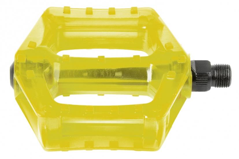 M Wave Platformpedaal BMX Polycarbonaat 9/16 Inch geel set