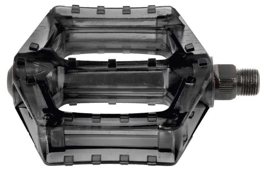 M Wave Platformpedaal BMX Polycarbonaat 9/16 Inch Zwart Set