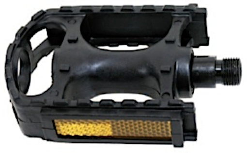 M Wave Platformpedaal MTB Reflector 9/16 Inch zwart per set