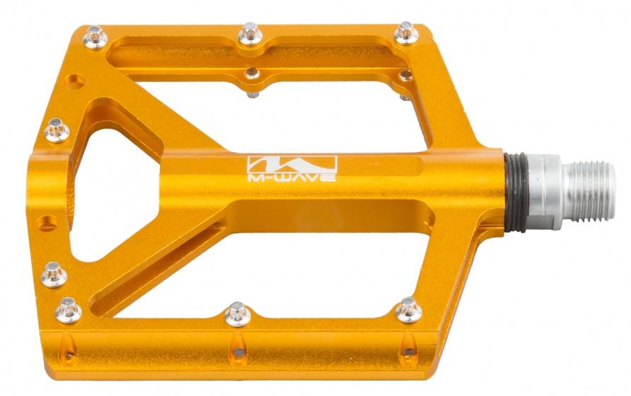 M Wave platformpedaal set 9/16 inch BMX goud