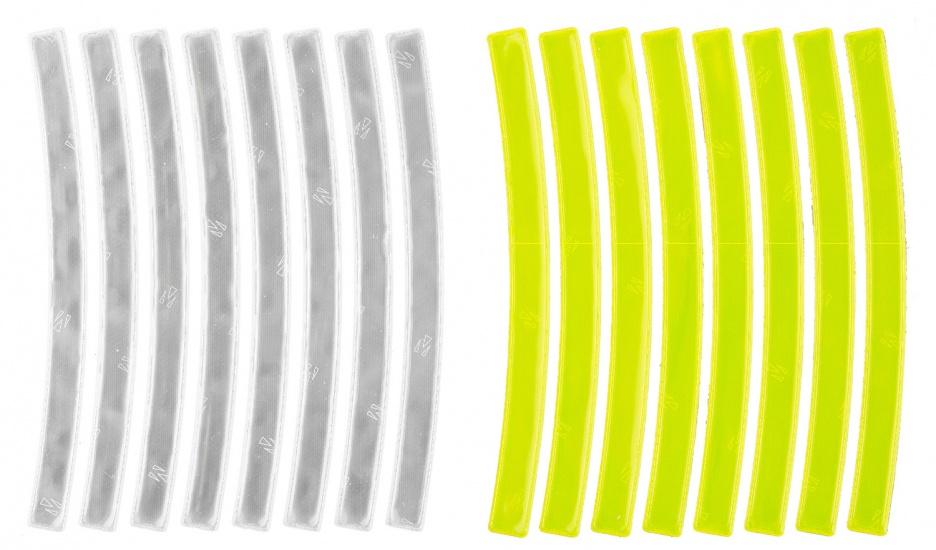 M Wave Reflecterende Stickers Wit + Geel 16 Stuks