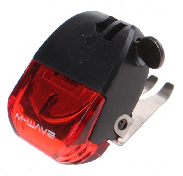 M Wave remlicht helios led batterij 4 cm zwart/rood