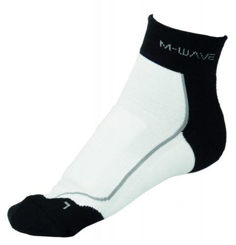 M Wave Sportsokken ATB Sock Wit Zwart Maat 39/42