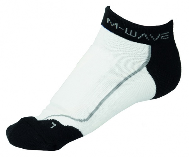 M Wave Sportsokken Road Sock Wit Zwart Maat 39/42