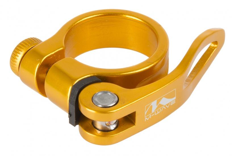 M Wave Zadelpenklem Clampy QR 31,8 mm aluminium goud