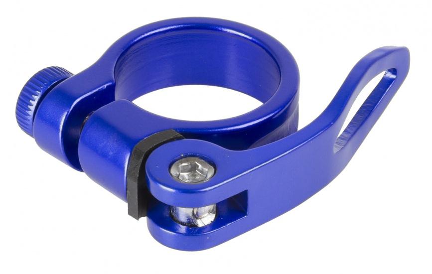 M Wave Zadelpenklem Clampy QR 34,9 mm aluminium blauw