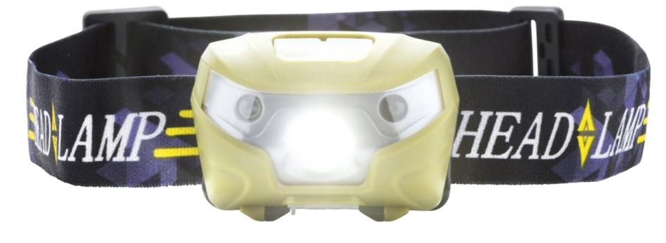 MacGyver hoofdlamp Sensor 17 cm USB 100 lumen zwart/geel