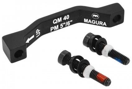 Magura remschijf adapter voor of achter 160/180 mm zwart